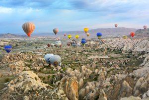 luchtballon landschap